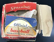 VINTAGE SPALDING NATIONAL LEAGUE STYLE 1960's ORIGINAL BASEBALL BOX USED RARE!!