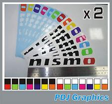 2 x Nissan NISMO Vinyl Stickers / Decals Skyline Juke GTR