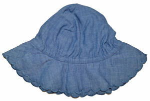 Baby Gap Factory NWT Blue Chambray Scallop Sun Hat 0-6 6-12 Months $17
