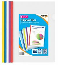 5 clipbar archivos A4 para proyectos de presentación carpeta Documento Carpeta de diapositiva Escuela