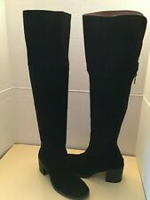 Lucky Brand Rayla womens black suede over the knee high boots Euro 39 US Size 9