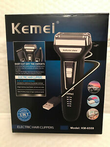 Kemei KM-6559 Multifunction 3-in-1 Rechargeable Shaver/Hair Cutter/Nose Trimmer