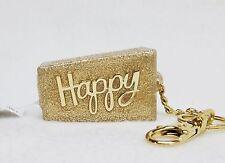 Bath & Body Works HAPPY Gold Glitter Pocketbac Holder Clip Case Sanitizer Sleeve