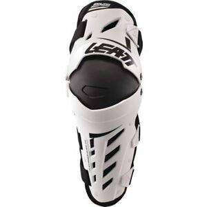 Leatt Dual Axis Knee/Shin Guards - White/Black, All Sizes