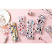 Fashion Animals Food Patterned See Through Transparent Cute Plastic Pencil Cases