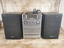 Panasonic Micro Hi-Fi System SA-PM20 Stereo Radio FM CD Cassette Player, Tested