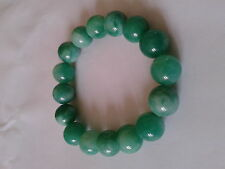 Bracelet en jade, 1 rang, teint,  extensible.