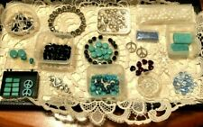 Jewelry Making Supplies in Turquoise/Black Nice Assortment High Quality