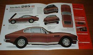 ★★1971 ASTON MARTIN DBS V8 ORIGINAL IMP BROCHURE SPECS INFO 71 67-73★★