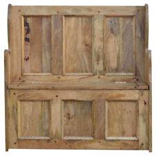 Solido Legno di Mango grandi Monaci Storage Bench realizzati a mano