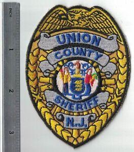 Union County Sheriff New Jersey NJ Police Patch