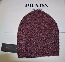 BNWT Beautiful Designer PRADA Ladies Wool   Cashmere Knit Beanie Hat M ITALY 63ca8bba7