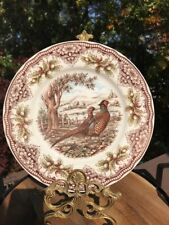 THE VICTORIAN ENGLISH POTTERY PHEASANT WOODLAND DINNER PLATE NEW