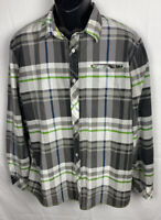 Ocean Current Mens Button Up Shirt Size XL Cotton Blend Long Sleeve Pocket EUC