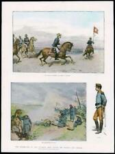 1891 - Antique Print JAPAN Army Mikado Majesty Handa Nagova  (289)