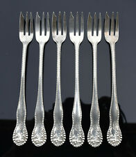Set 6 Gorham Sterling Silver Oyster Forks Lancaster Rose 1897 Seafood Cocktail