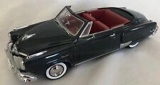 "Black Danbury Mint 1950 Studebaker Champion Convertible 1:24 diecast 8.5"" Car"