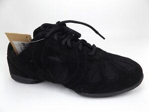 Skazz by Sansha Low Top Dance Sneakers, Women's Size 11.0 M, Black Suede,  21050