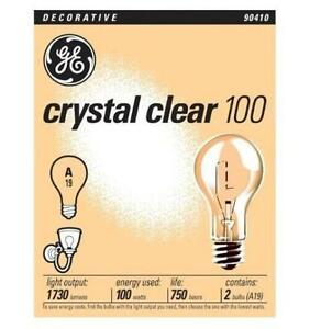 GE 97489-20 Crystal Clear General Purpose A19 Light Bulb, 100-Watt, 20-Pack