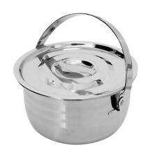 Stainless Steel Outdoor Camping Travel Cookware Pot with Lid Handle Large