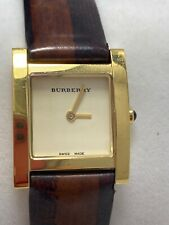 Burberry Ladies Square Watch Leather Band