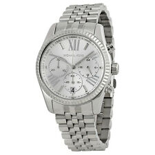 MICHAEL KORS Lexington Silver Chronograph Stainless Steel Ladies Watch MK5555