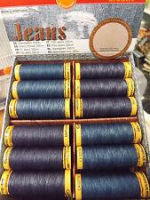 Gutermann Jeans Sewing Thread Stonewash PolyCotton Dark Med Blue Denim 100M Reel