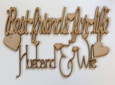Best Friends For Life Husband And Wife. Wood home decor, Gift, Love.