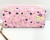 Japan anime Sailor Moon Luna Usagi long wristlet wallet coin purse clutch