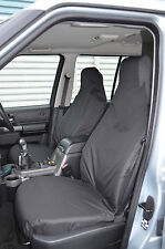 Land Rover Discovery 3 & 4 Black Tailored Waterproof Front & Rear Seat Covers