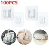 100PCS Double-sided Adhesive Wall Door Hooks For Home Life Hangging AU