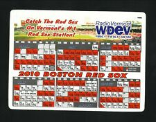 Boston Red Sox--2010 Magnet Schedule--WDEV