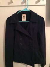 Roxy Blue Jacket Wear Me Share Me Love Me Buttons Junior Surf M School