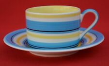 WHITTARDS;    TRADITIONAL MULTI- STRIPE CUP AND SAUCER -  GREAT CONDITION!