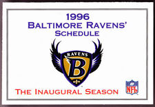 Football Baltimore Colts Vintage Sports Schedules