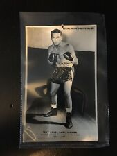 RARE ORIGINAL TONY ZALE BOXING NEWS PHOTOS SERIES POSTCARD BOXER