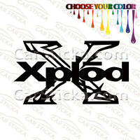 "2 of 5"" Xplod Audio /B aftermarket car window bumper vinyl sticker decal die cut"
