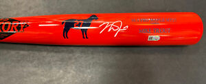 Mike Trout Signed Game Model Old Hickory #27 GOAT Bat Autograph MLB Holo COA