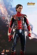 1/6 Hot Toys MMS482 Avengers: Infinity War Iron Man Spider Peter Figure Model