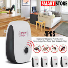 4X Electronic Ultrasonic Anti Pest Bug Killer Mosquito Cockroach Mouse Repeller