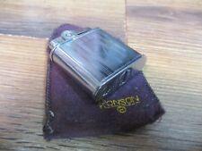 Vintage  RONSON WHIRLWIND ETCHED CHROME CIGARETTE LIGHTER POCKET CIGAR