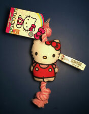 NEW with tag HELLO KITTY COLLECTIBLE CAT DOG PET TOY with attached PINK ROPE