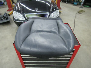 00-02 Mercedes W220 Black Leather Front Lower Seat Cover Left Drivers With Pad