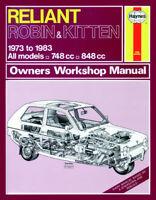 Reliant Robin Kitten & Rialto 1973 - 1983 Haynes Manual 0436 NEW