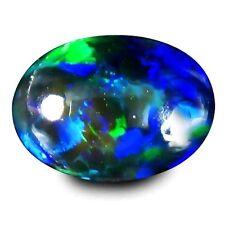 2.05 ct Natural LR, Australia Multi color TOP FIRE FLASH BLACK OPAL gemstone