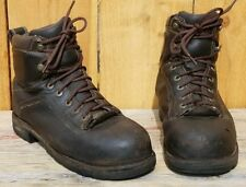 """DANNER QUARRY 6"""" Black Leather ASTM STEEL TOE WORK BOOTS Gore-Tex MENS 7.5"""