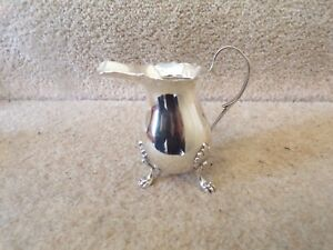 """ART DECO STERLING SILVER CREAM JUG JC ANCHOR LION g 3.5"""" IN HEIGHT"""
