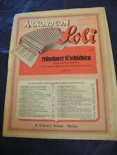 Partition Accordéon Akkordeon Soli Munchner G'schichten Mackeben 1940