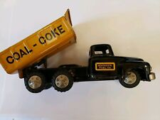Vintage Linemar Marx Coal Coke Fuel Co Tin Tot Truck Japan Tin Toy Lot Dump...