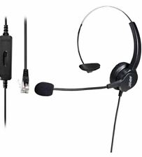 AGPTEK Hands-Free Call Center Noise Cancelling Corded Monaural Headset